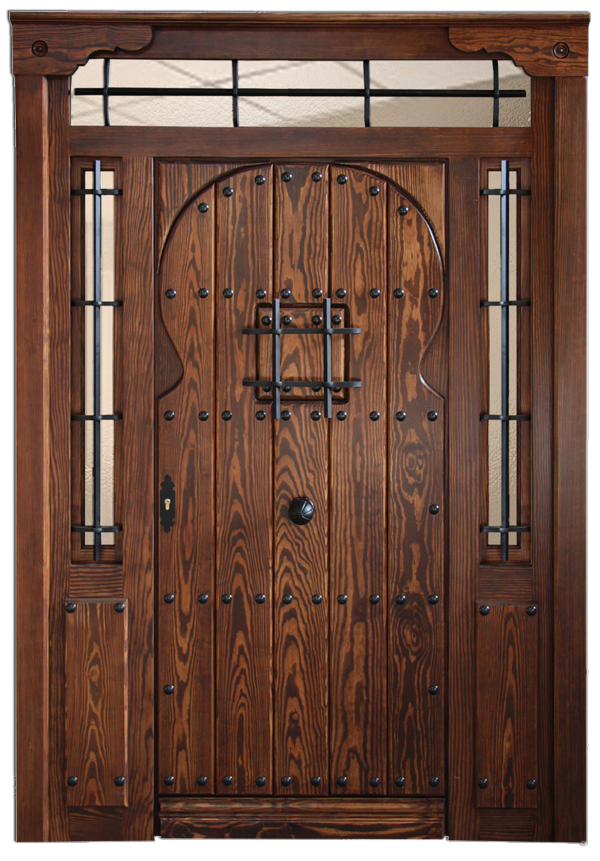 Puertas exterior de madera affordable puertas de exterior for Puertas de madera estilo antiguo