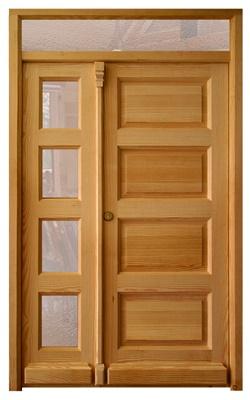 Puertas de exterior de madera los davices fabricante for Puertas de madera maciza exterior precios