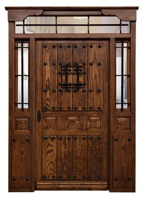 Puertas de exterior en madera maciza - Puerta de exterior de madera ...